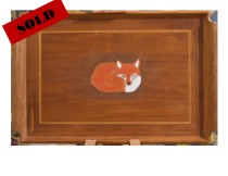 Sleeping Fox Tray Sold