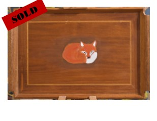 Sleeping Fox Tray Sold